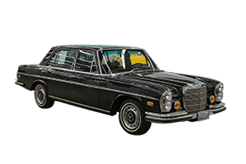 fleet classic 1972 mercedes 280SEL