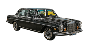 Classic 1972 Mercedes 280SEL hourly